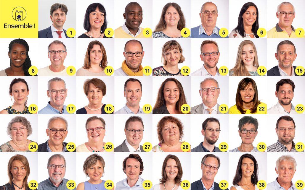 Tous les candidats Ensemble Tournai